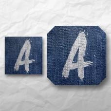 Letters - Painted Denim 1