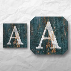 Letters - Weathered Green Wood 1