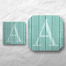 Letters - Weathered Teal Wood 1